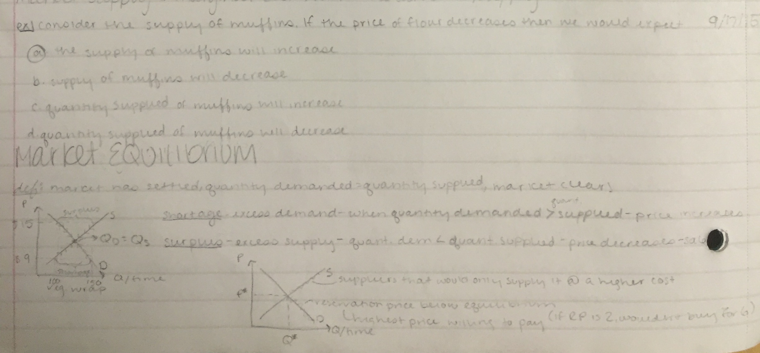 ECON 1010 - Class Notes - Week 5
