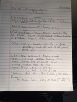 BIO 1020 - Class Notes - Week 6