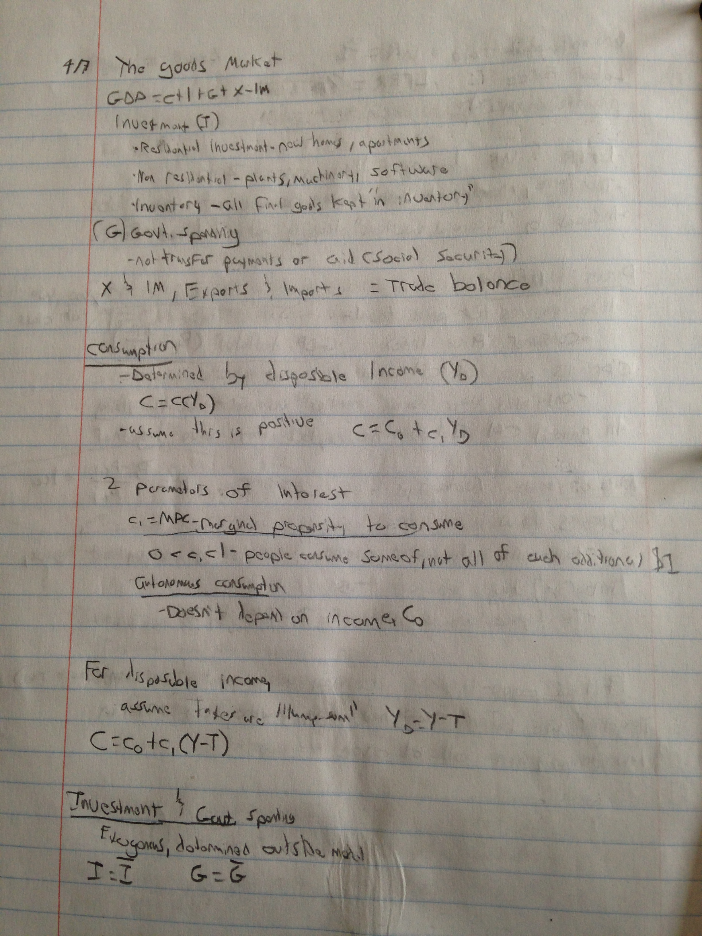 ECON 313 - Class Notes - Week 2