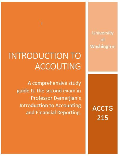 ACCTG 215 - Study Guide