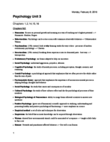 PSY 202 - Study Guide