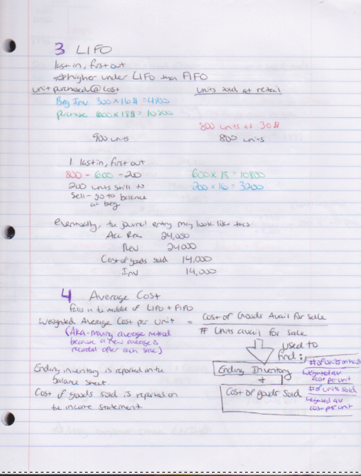 ACCT 2110 - Class Notes - Week 4