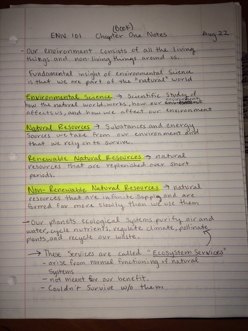 ECON 101 - Class Notes - Week 1