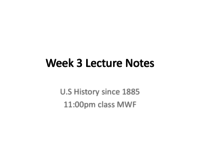 HIST 1312 - Class Notes - Week 4
