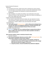 PSY 335 - Class Notes - Week 15