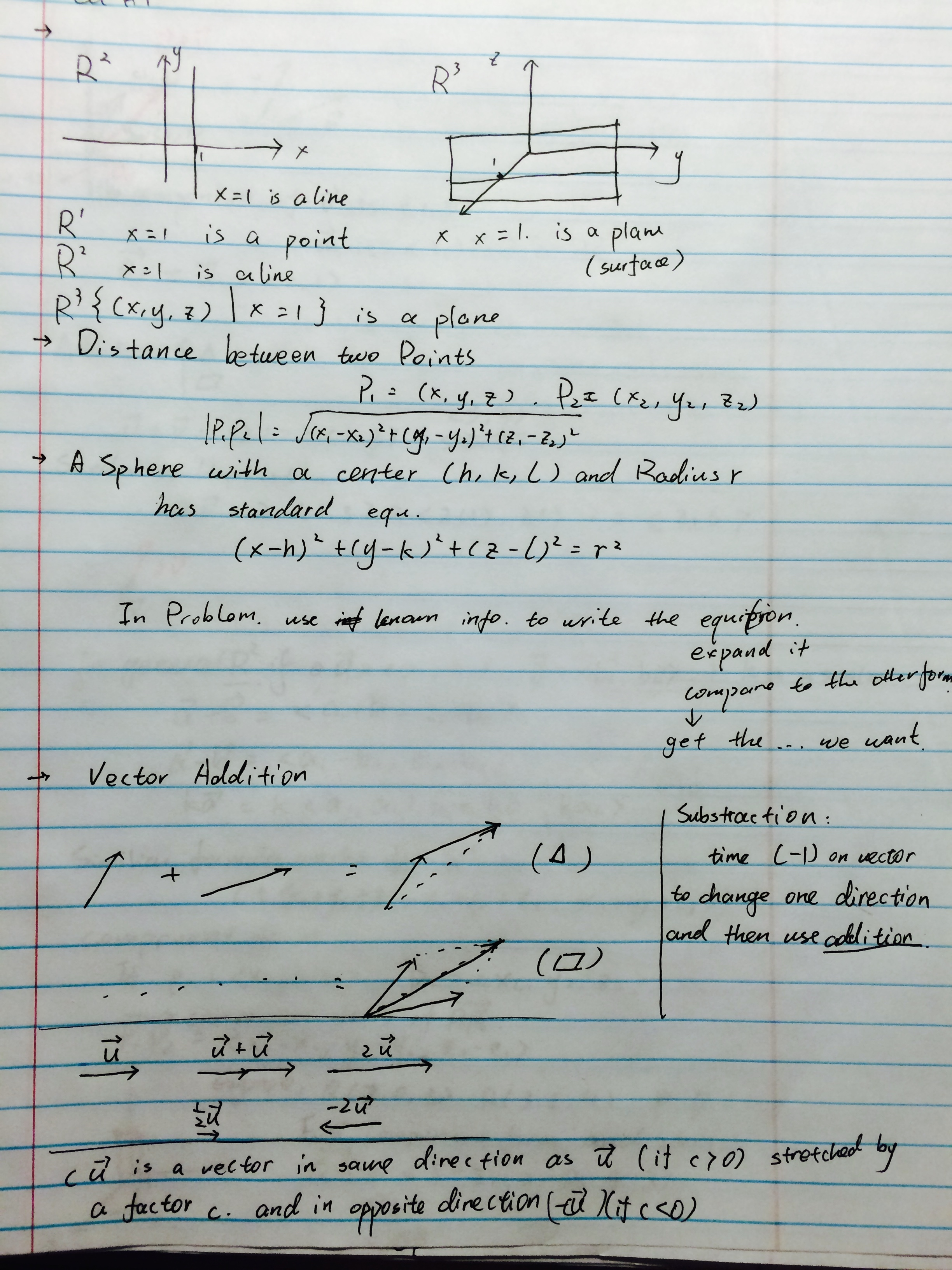 MA 162 - Class Notes - Week 1