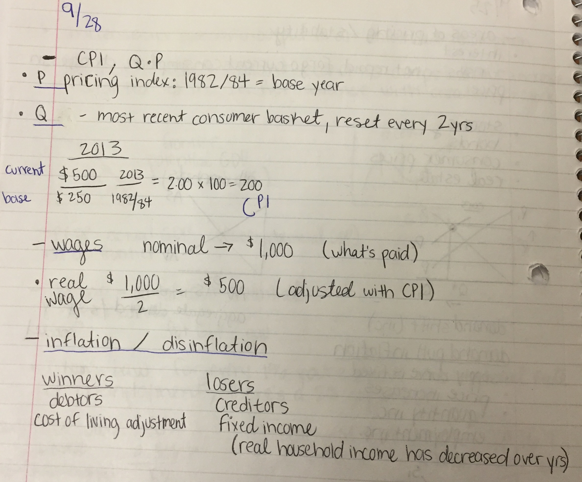 ECON 1010 - Class Notes - Week 7