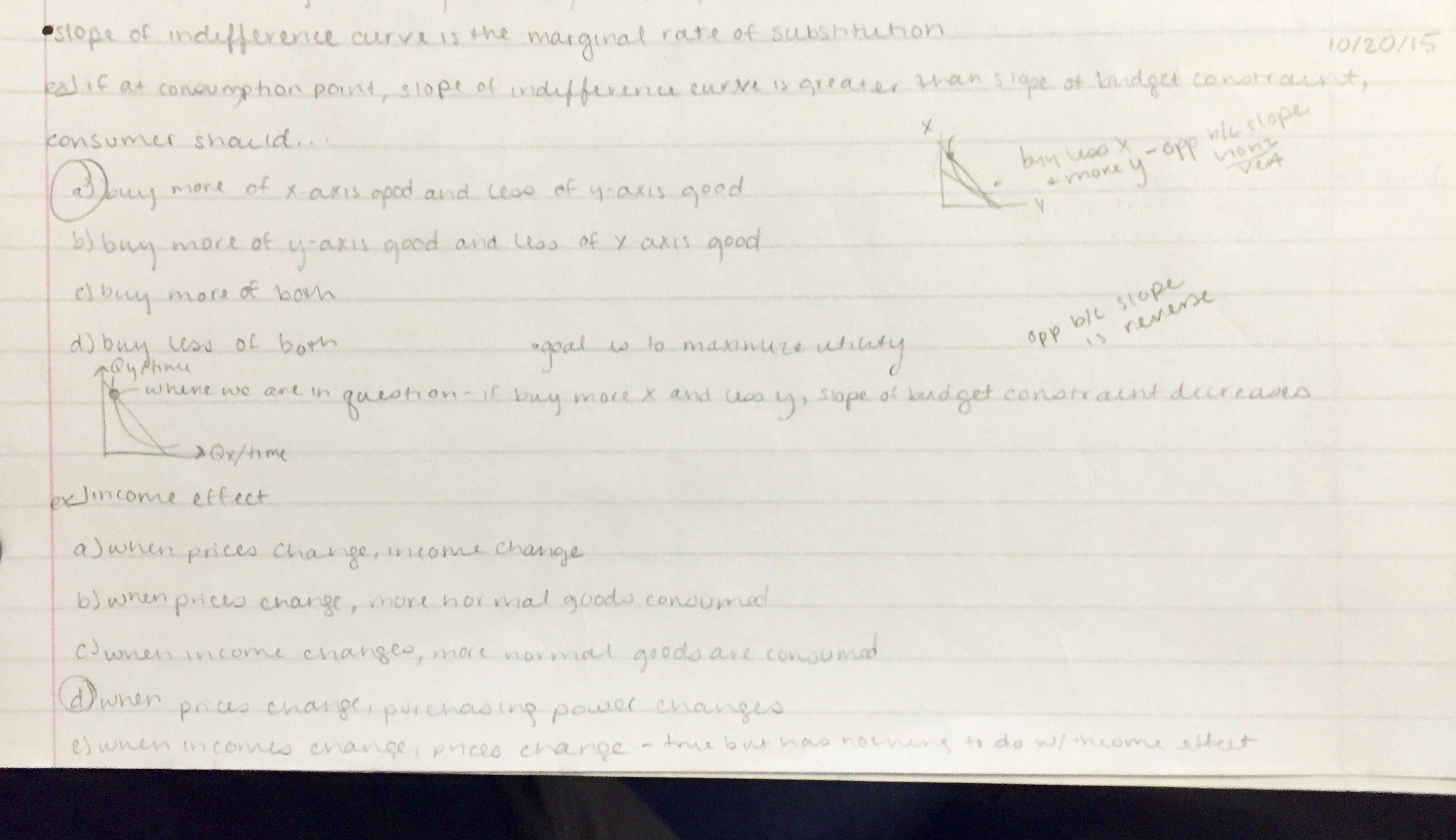 ECON 1010 - Class Notes - Week 11