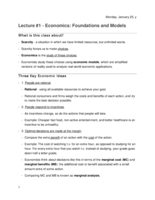ECON 2030 - Class Notes - Week 1