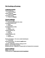 PSY 101 - Class Notes - Week 7