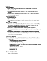 PSY 335 - Class Notes - Week 13