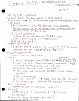 COMM 1500 - Class Notes