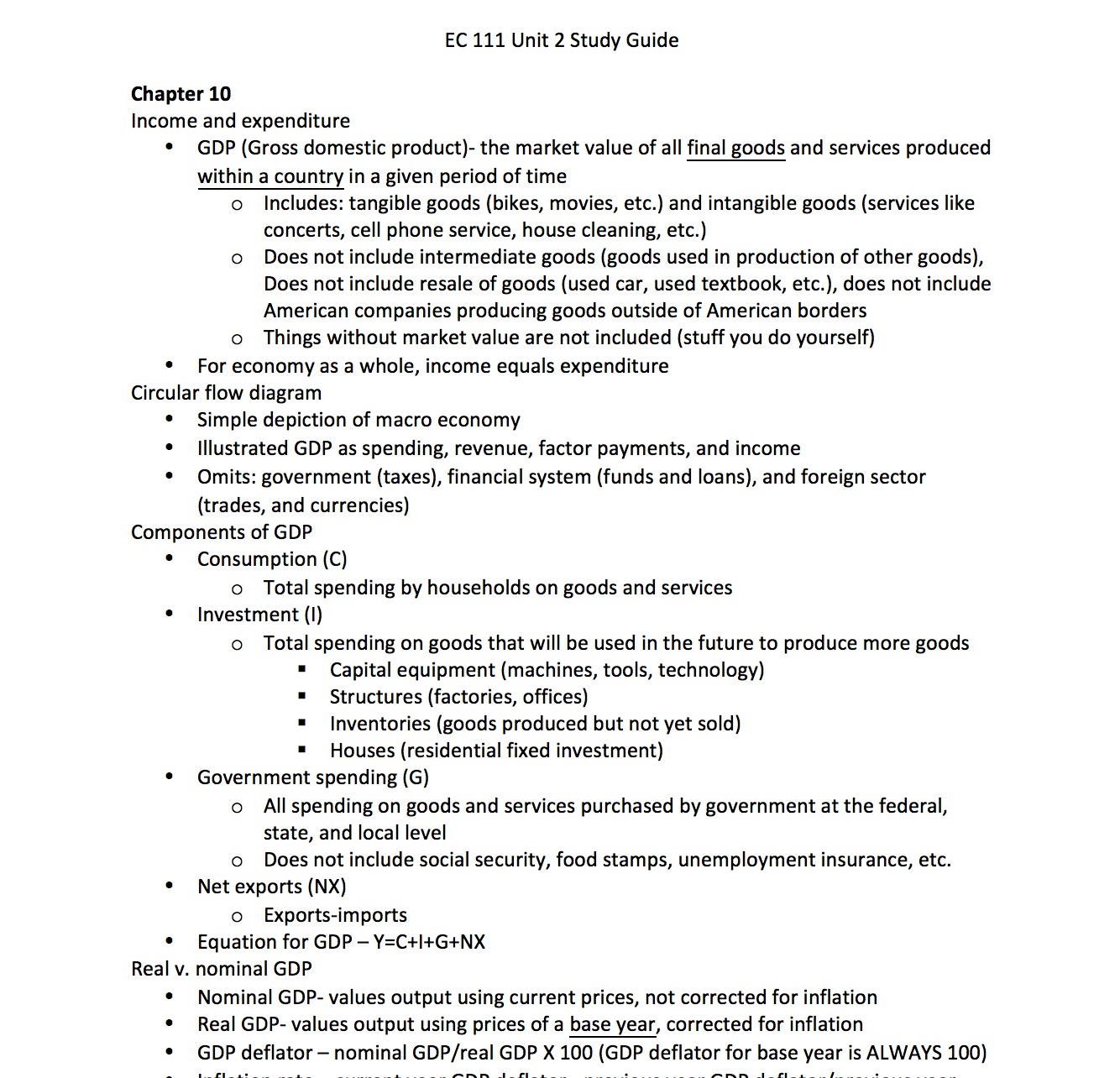 STAT 111 - Study Guide