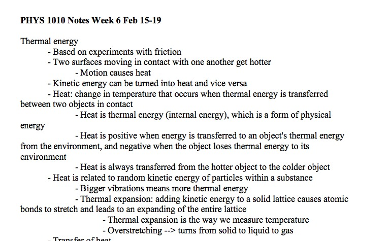 what determines an object's thermal energy