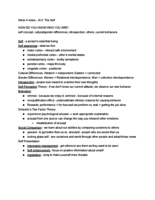 PSY 231 - Study Guide