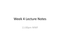 HIST 1312 - Class Notes - Week 5