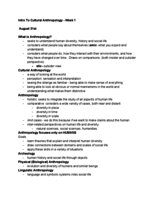 ANTH 0780 - Class Notes - Week 1