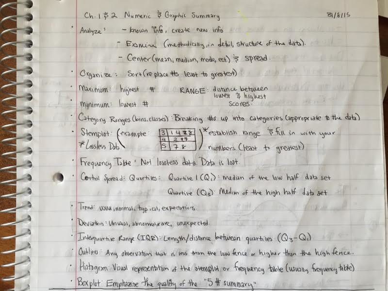 MATH 124 - Class Notes - Week 1