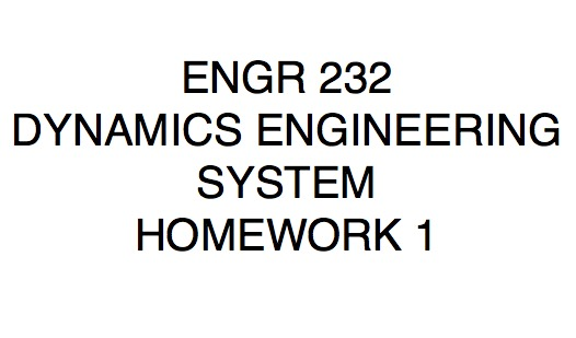 ENGR 232 - Study Guide