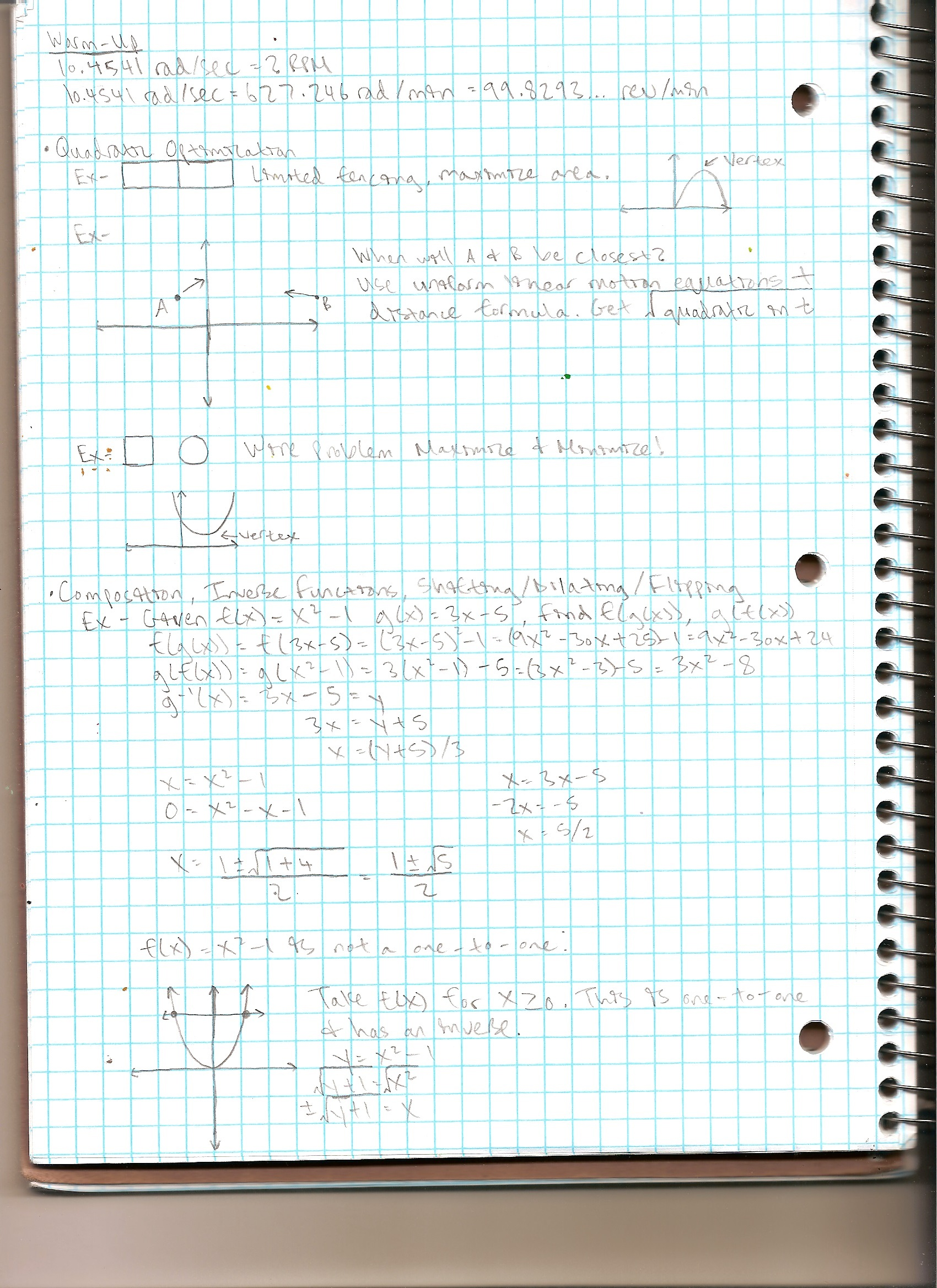 MATH 120 - Class Notes - Week 2