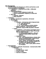 BSC 2011 - Study Guide