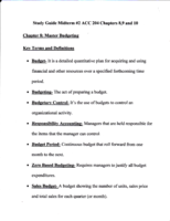 Bus 204 - Study Guide