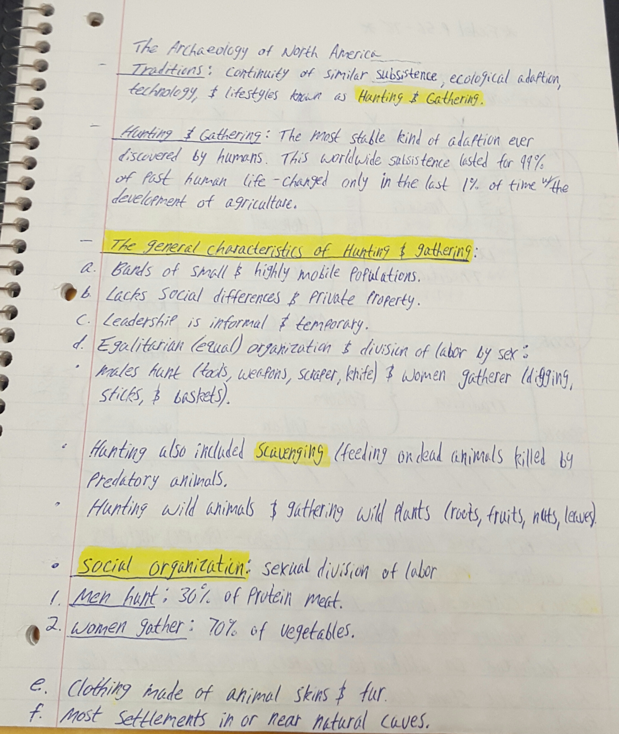 ANTH 175 - Class Notes - Week 4