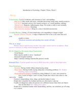 PSY 1113 - Class Notes - Week 5