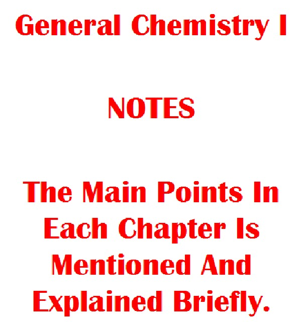 CHEM 10060 - Class Notes - Week 1