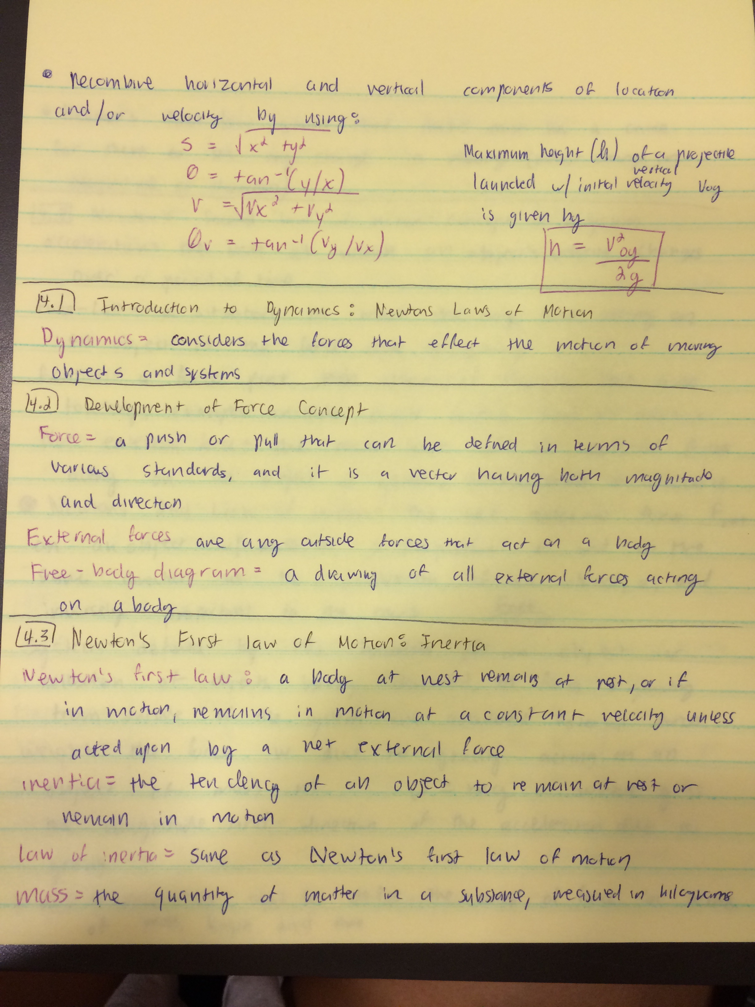 PHYS 211 - Class Notes - Week 6