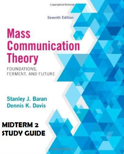 COMM 370010 - Study Guide