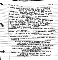BCORE 101 - Class Notes