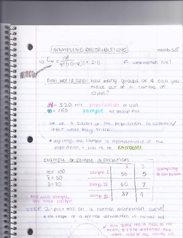 STAT 1053 - Class Notes
