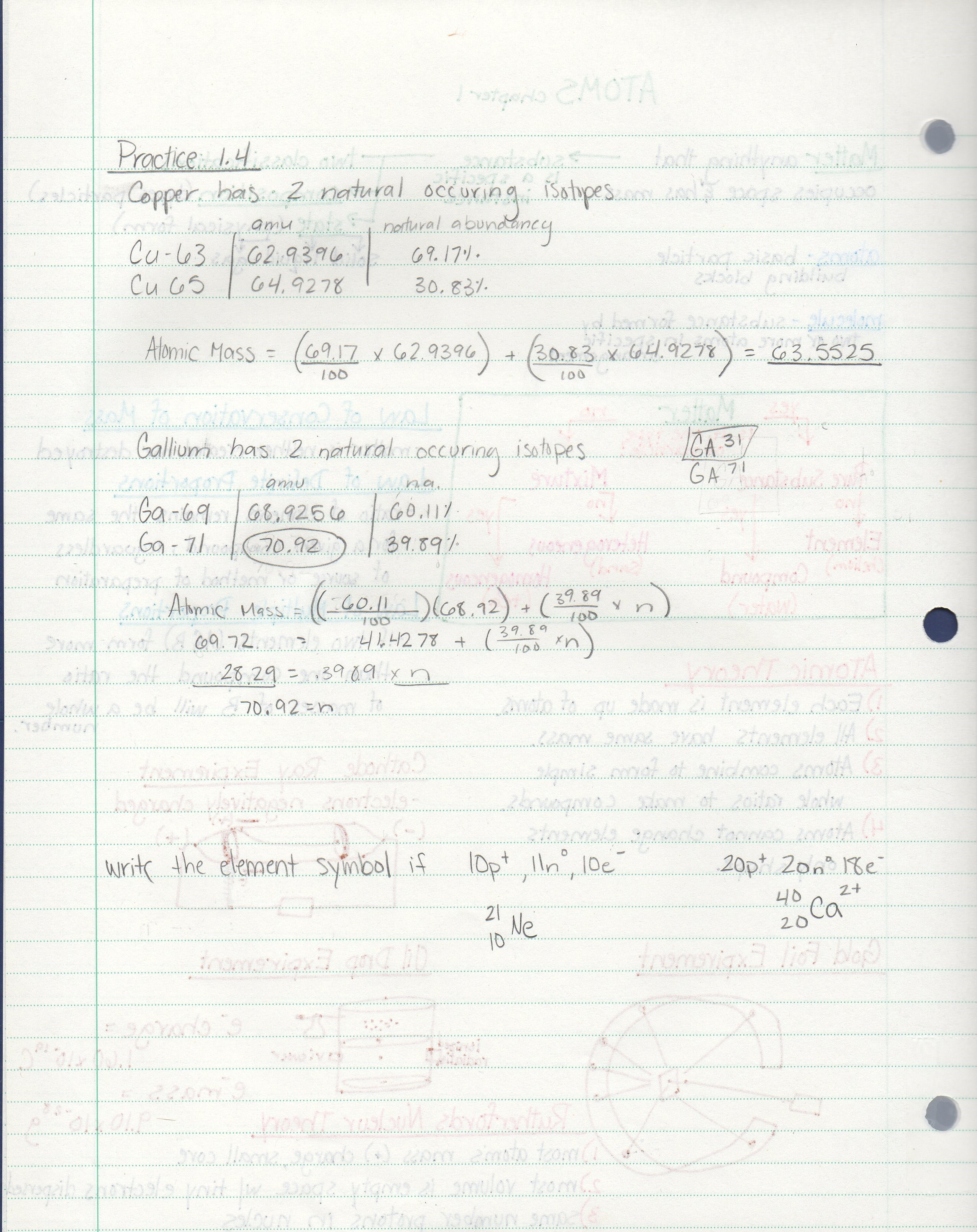 CHEM 131 - Class Notes