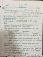 STAT 2300 - Study Guide