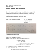 How do you find the supply equation?