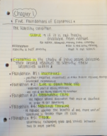 ECON 200 - Class Notes - Week 1