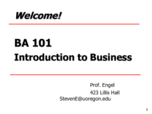 OBA 101 - Class Notes - Week 1