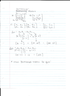 linear algebra handwritten notes