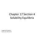 How do you calculate solubility equilibrium?