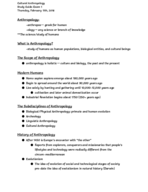 ANT 2597 - Study Guide