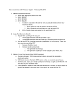 ECO 2020 - Class Notes - Week 2