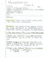 ECON 1201 - Class Notes - Week 1