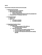 ECO 2020 - Class Notes - Week 10
