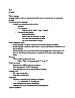 PSY 100 - Class Notes - Week 9