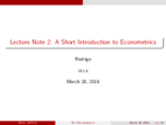 ECON 103 - Class Notes - Week 1