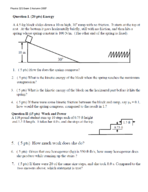 PHYS 121 - Study Guide