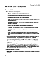 BUS 3310 - Study Guide