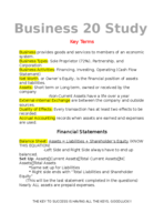 Bus 020 - Study Guide