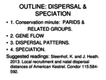 What happend during natal dispersal?